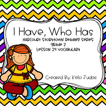 Harcourt Storytown Lesson 24 Vocabulary Game