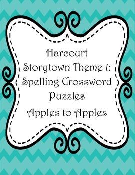 Harcourt Spelling Word Crosswords Theme 1