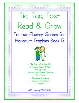 Harcourt Trophies FIRST GRADE Fluency (Book 5) Tic, Tac, T