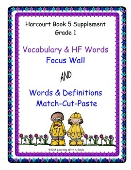 Harcourt Trophies FIRST GRADE Book 5: Vocabulary and HF Wo