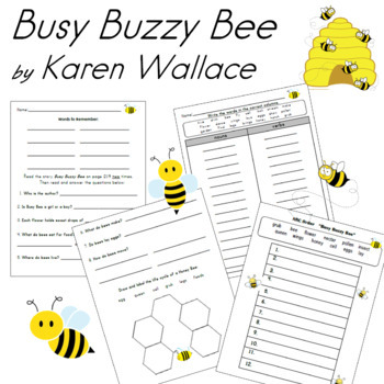 Busy Buzzy Bee Center Packet