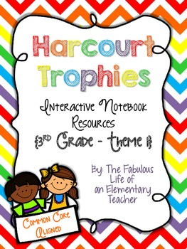 3rd Grade Harcourt Trophies Theme 1 Interactive Notebook R