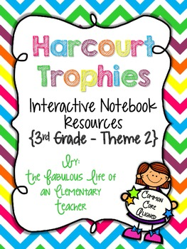 3rd Grade Harcourt Trophies Theme 2 Interactive Notebook R