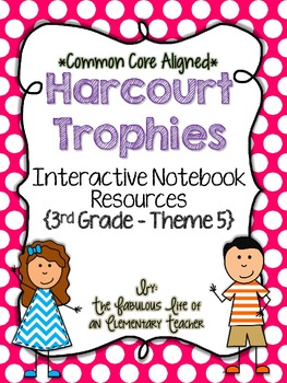 3rd Grade Harcourt Trophies Theme 5 Interactive Notebook R