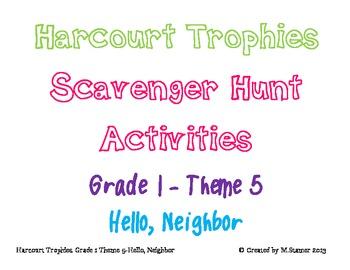 Harcourt Trophies Theme 5 Grade 1 Scavenger Hunts