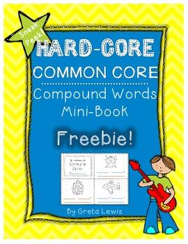 Hard-Core Common Core Compound Words Mini-Book Freebie