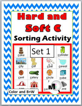 Hard and Soft C Sorting plus Worksheets & Posters - Set 1