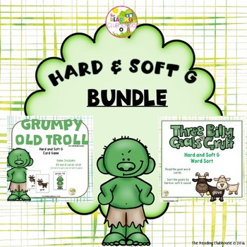 Hard & Soft G Game and Word Sort BUNDLE