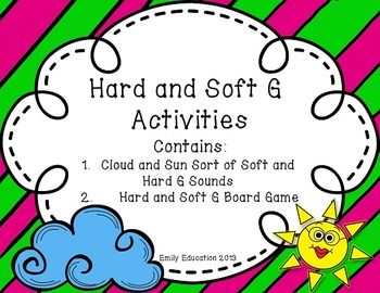 Hard and Soft G Activities and Centers that are Sun and Cl