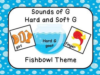 Hard and Soft G Literacy Center Fishbowl Theme