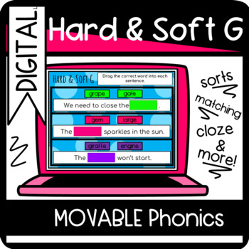 Hard or Soft G Sort and Worksheets
