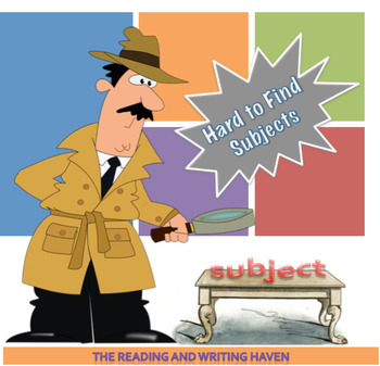 Hard to Find Subjects / Tricky Subjects Lesson
