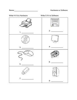 Hardware and Software Worksheet