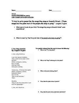 Harlem Renaissance Langston Hughes Analysis