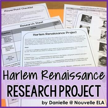 Harlem Renaissance PowerPoint Project