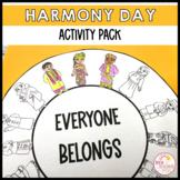 Harmony Day Activity Pack Craft, Literacy Activities, Post