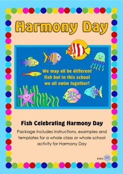Harmony Day Fish- We all swim together! - Cultural Diversi
