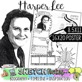 HARPER LEE, WOMEN'S HISTORY, BIOGRAPHY, TIMELINE, SKETCHNO