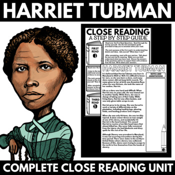 Harriet Tubman - Black History Month Unit Information and
