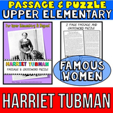 Harriet Tubman Biography Passage and Crossword Puzzle