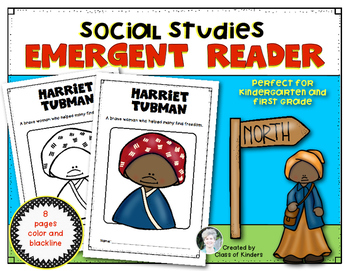 Harriet Tubman Emergent Reader {Black History} Kindergarte
