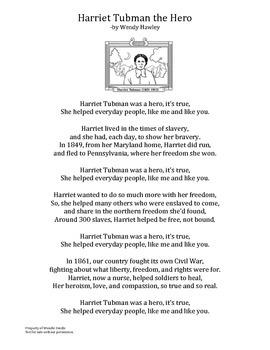 Harriet Tubman Poem