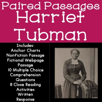 Harriet Tubman Reading Comprehension Paired Passages