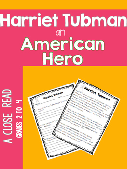 Harriet Tubman, an American Hero