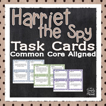 Harriet the Spy Task Cards