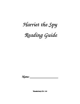 Harriet the Spy Reading Guide