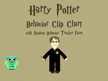 Editable Harry Potter Behavior Clip Chart with Student Tra