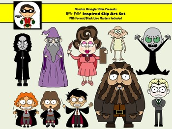 Harry Potter Inspired Clip Art Collection