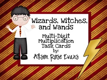 Wizards, Witches, and Wands Multi-Digit Multiplication Task Cards