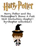 Harry Potter Novel Study Worksheets - Chapters 1-6