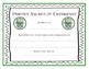Harry Potter Prefect Award Certificates