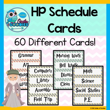 Harry Potter Schedule Cards (60 Cards / 4 Color Options)