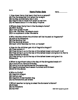 Harry Potter Study Guide