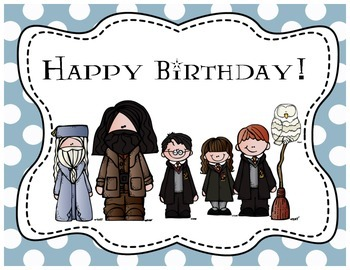 Harry Potter Themed Classroom - Happy Birthday Poster (wit