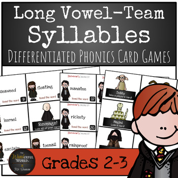 Harry Potter Themed Classroom -Vowel Team Syllables