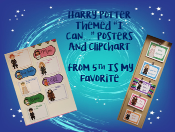 Harry Potter Themed I Can Statements and Clip Chart