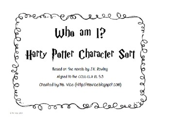 Harry Potter Who am I? Character Analysis