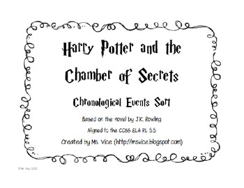 Harry Potter and the Chamber of Secrets Chronological Order Sort