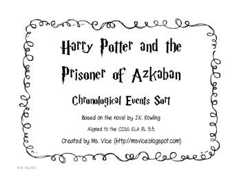Harry Potter and the Prisoner of Azkaban Chronological Order Sort