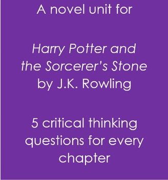Harry Potter and the Sorcerer's Stone Full Novel Questions
