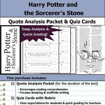 Harry Potter and the Sorcerer's Stone - Quote Analysis & R