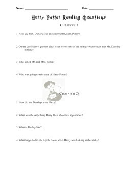 Harry Potter and the Sorcerer's Stone Chapter Questions