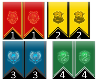 Harry Potter number cards
