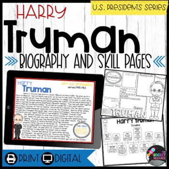 Harry Truman: Biography, Timeline, Graphic Organizers, Tex