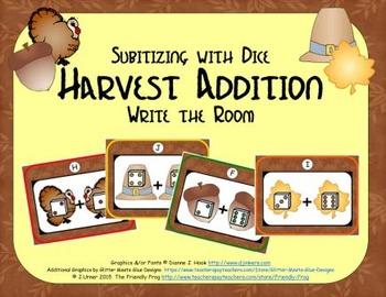 Harvest Addition {Subitizing with Dice}