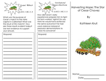 Harvesting Hope: The Story of Cesar Chavez Trifold/ Florid
